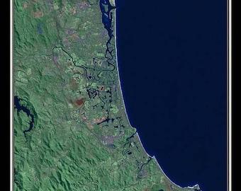 Gold Coast Queensland Australia Satellite Map