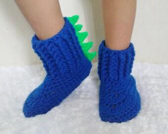 Dinosaur boot slippers - dino slipper socks - dinosaur shoes - dino shoes - dinosaur slipper socks - dinosaur slippers - dinosaur booties