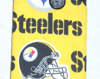 Eyeglass sunglass  case football theme  Pittsburg Steelers