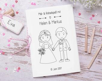 """Hochzeitsmalbuch PDF """"Lovely"""" Gastgeschenk Hochzeit"""