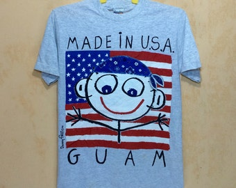 90s Vintage 1994 DANNY FIRTS Made In Usa Guam T-shirt Adult Small Size