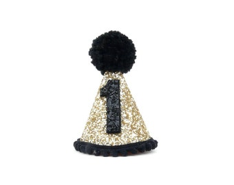 1st Birthday hat,2nd,3rd,4th,5th, 6 month , black hat,   photo props, boy birthday party, birthday photo shot, party hat,birthday decoration