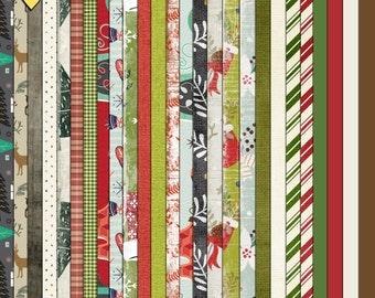 SUMMER SALE - Christmas Joy - Digital Scrapbooking Paper Pack