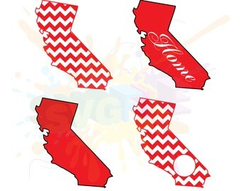 California SVG Files for Cutting America State Cricut Designs - SVG Files for Silhouette - Instant Download