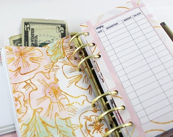 PEACH FOIL Collection Planner Envelopes + Pockets | Budget Envelopes | Set of 6 | DreamPlanRepeat