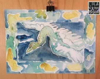Cloud Bird {watercolor}
