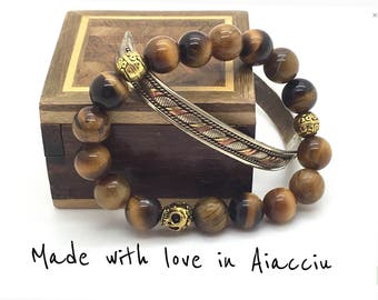 Bracelet beads with or without matching Tibetan rush Tiger eye