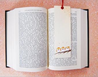 bookmark, love, hand made, cute, little birds