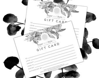 GIFT CARD/Voucher/GIFT Certificate