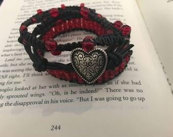 Leather Macrame Wrap Bracelet
