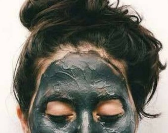 CHARCOAL FACE MASK - Fine Activated Coconut Charcoal / Charcoal Treatment  / Teeth Whitening.  Clear Skin Naturally! Vegan & Natural