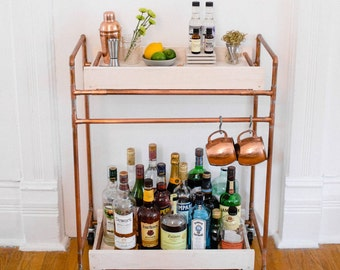 Copper Kitchen Bar Cart