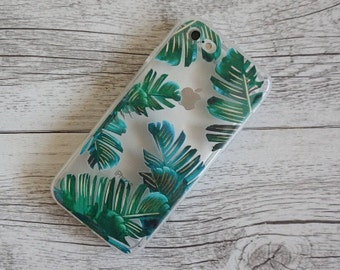 Green Palm Tree Design Soft Mobile Phone Case - for; iPhone 7 & iPhone 7 Plus