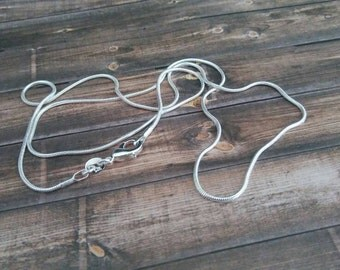 """Sterling Silver Chain 20"""" inches long - 925 Sterling Silver Necklace"""