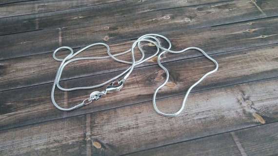 "Sterling Silver Chain 20"" inches long - 925 Sterling Silver Necklace"