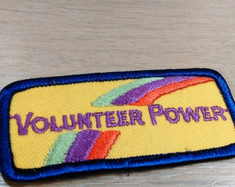 """Patch/Applique/""""Volunteer Power""""/3.75"""" Long By 1.5"""" High/Free Shipping Within The Cont. USA"""