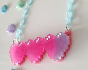 Pixel Hearts Necklace
