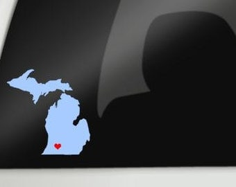 Michigan Car Decal, State of Michigan Car Decal, State of Michigan, Mitten State Decal