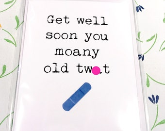 Get well / funny / swearing /offensive / card / Rude