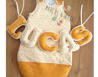 Banner/Swaddle - collection mustard origami