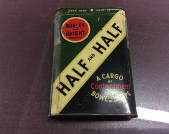 Half and half tobacco tin