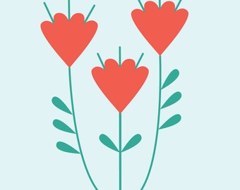 "Wall Art Print, ""Love You Always"" Print, Floral Art, Floral Print, Modern Wall Art, Pastel Print"