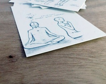 Yoga Postcards - 10 Pack \\ Yoga Cards\\ 108YogaLove .. The Union of Yoga and Art