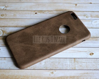 FREE SHIPPING - Brown iPhone 6 Plus Ultra Slim Leather Case