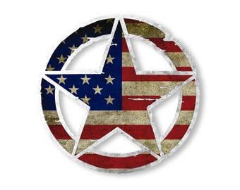 US Army Star Pentagram Vinyl Decal Car Truck Laptop sticker Military Veteran
