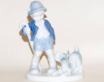 Gerold Porzellan Shepherd Boy and Dog