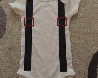 3-6 Mo Onesie Suspenders