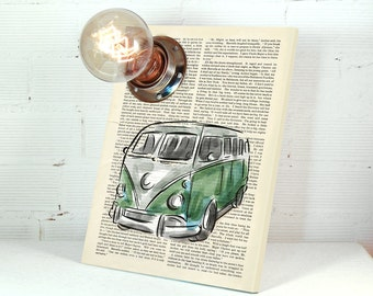 VW Bus Decor - Gifts For Dad - Gifts for Husband - Boyfriend Gift - VW Bus - Gifts for Him - Brother Gift - Car Decor - Old Cars - Lamp
