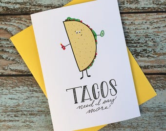 Taco Lovers Card // Get Well Soon // Brunch // Birthday