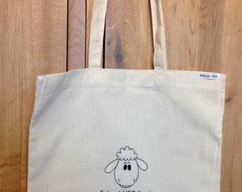 Vegan inspired 'Friend NOT food' tote bag
