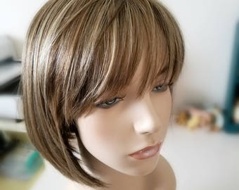 Sharp A-Line Bob synthetic wig, modern cut bob wig, Photo Shoot wig, Photo Prop wig, Fantasy Hair, trendy bob wig