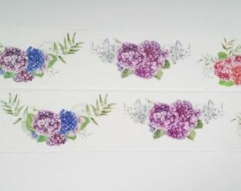Design Washi tape flowers Lilac Blue hydrangeas