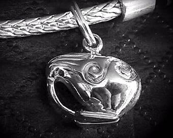 Kiwi Charm Sterling Silver