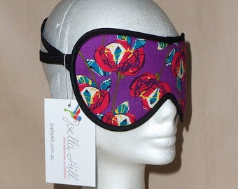 """Eye Mask Sleeping Mask for flights travel, relaxation and holidays in """"Vera Cruze"""" by Joella Hill Australian Seller"""