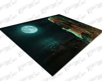 Print on Canvas Fantasy Fairyland MoonLight Fairy lady X1599