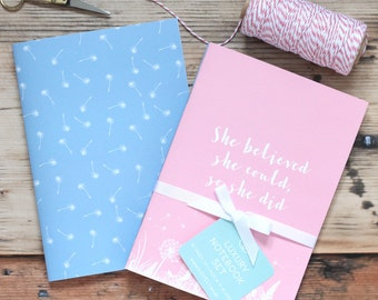 Pretty Notebook - Luxury Meadow A5 Notebook Set