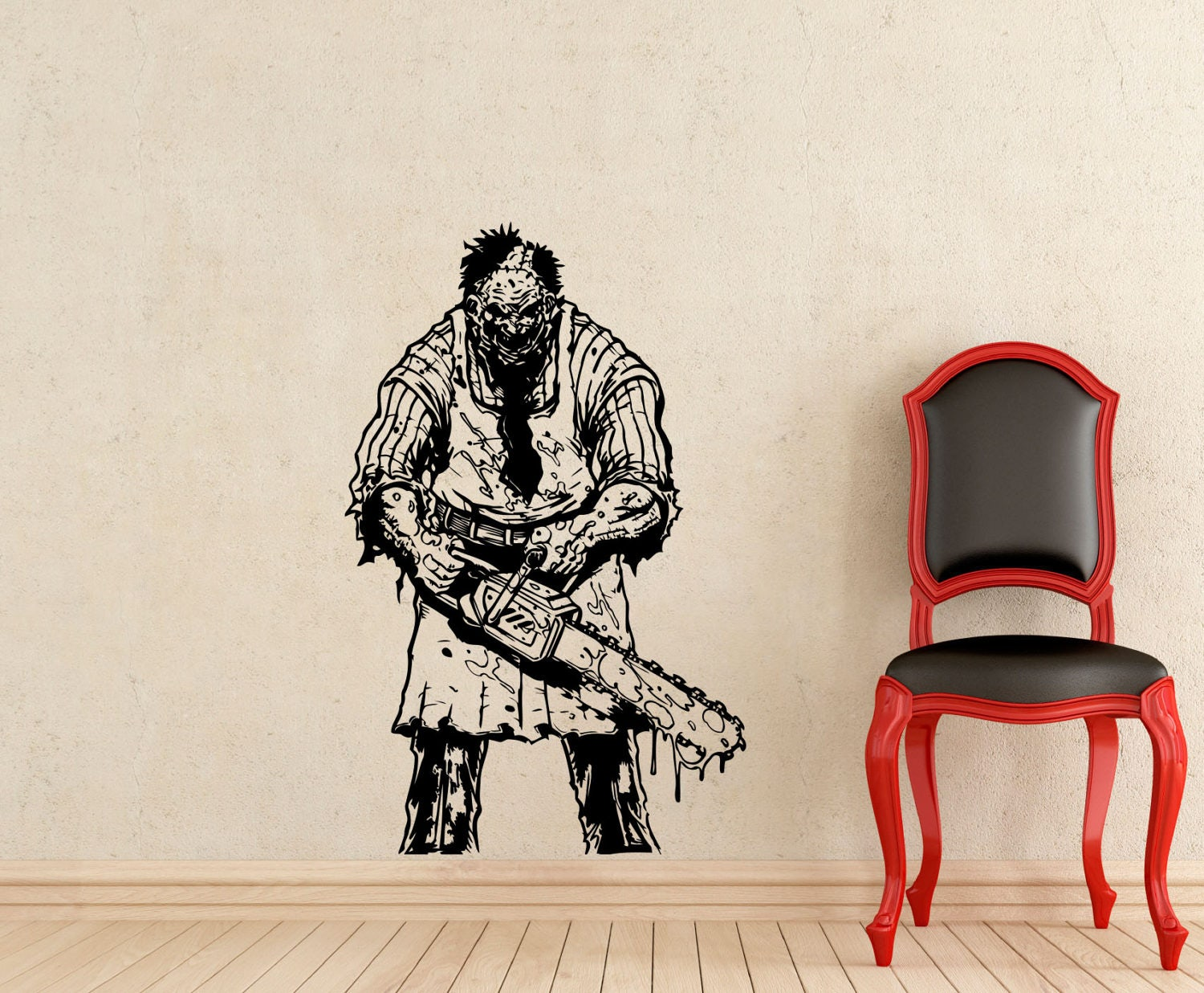 leatherface wall decal texas chainsaw massacre horror scary zoom