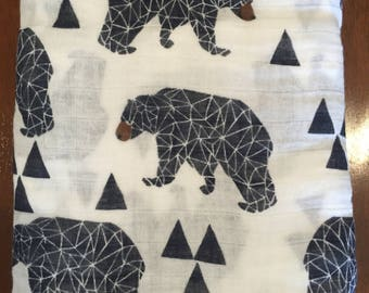 Muslin Baby Wrap, baby wrap, baby cloth, bear wrap