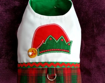 Small Dog clothes Little Elf Christmas dog Harness, Chihuahua clothes, Puppy Shih Tzu clothes, Size XS, S