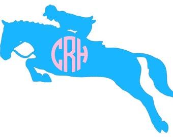 Personalized Monogram Equestrian Sticker- Free Shipping!