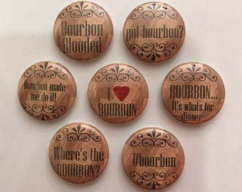 Bourbon Magnets - set of 7