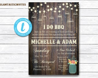 I Do BBQ Couples Shower Invitation, BBQ Couples shower, Bbq Invitation, I Do BBq Invitation, I Do Bbq, Bbq invitations, I Do Bbq Couples