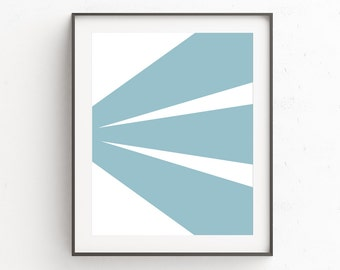 Teal Wall Art Decor | Blue Modern Wall Art | Geometric Wall Art