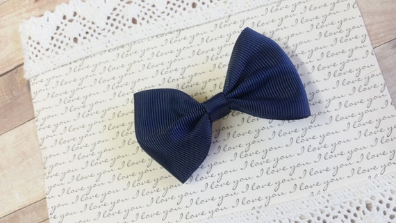 Hair Bows, Bow Hair Clips, Small baby Hair Clips, Hair Clips For Babies, Navy Blue Bow, Bows For Teens, Bows baby, Clip On Hair Bows, Bows