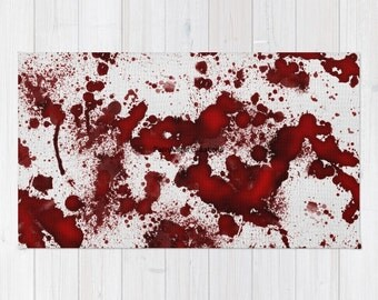 Blood Stained Accent Rug, 3 Sizes Available!