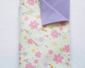 Spring Time Flower Baby Blanket, New Baby Blanket, Baby Shower Gift - Ready for Dispatch